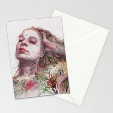 Leaves on Skin Stationery Cards