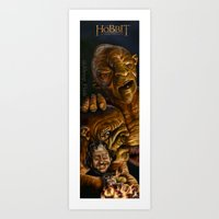 Peter Jackson directing The Hobbit Art Print