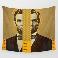 arnold Wall Tapestries featuring AbracadAbraham - Lincoln by AmDuf