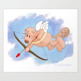 Castor Cupido Art Print