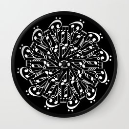 Musical mandala - inverted Wall Clock