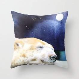 Ursa Sleeping Throw Pillow