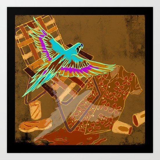 PARROTHEADS Art Print