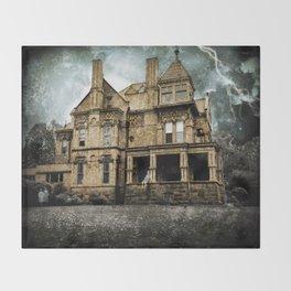 Haunted Hauntings Series - House Number 2 Throw Blanket