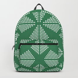 Geometric Dots Pattern - Turquoise Backpack
