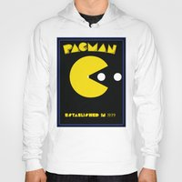 pac man Hoodies featuring pac-man by CJones5105