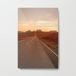 THE WAY WEST MONUMENT VALLEY ARIZONA PHOTOGRAPHY Metal Print