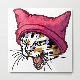 The Cat in the Hat (Calico) Metal Print