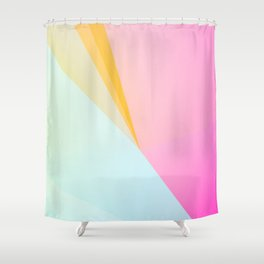 FOREVER YOUNG / Abstract Graphic Art Shower Curtain