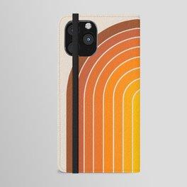 Gradient Arch - Vintage Orange iPhone Wallet Case
