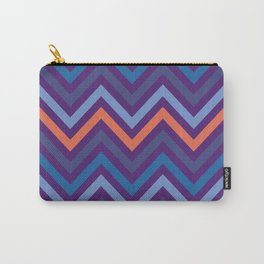 Purple Shade Wavy Line Geometric Patterns Carry-All Pouch