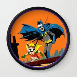 Rickman and Morbin Funny Superheroes Wall Clock