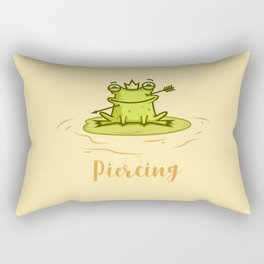 Piercing (Concept Funny Illustration) Rectangular Pillow