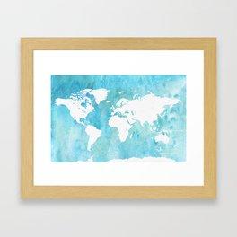 World map. JD Framed Art Print