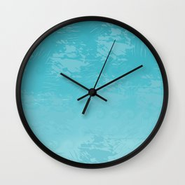 Icy Blue Abstract Wall Clock