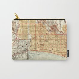 Vintage Map of Long Beach California (1949) Carry-All Pouch