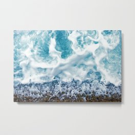 Foamy Sea Metal Print