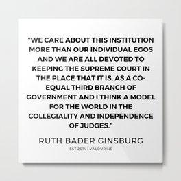 14      191115   Ruth Bader Ginsburg Quotes Metal Print
