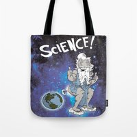 science Tote Bags featuring SCIENCE! by FoodStamp Davis