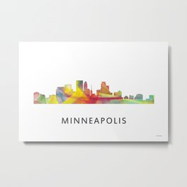 Minneapolis, Minnesota Skyline WB1 Metal Print