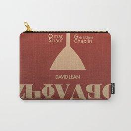 Doctor Zhivago, David Lean, Omar Sharif, Boris Pasternak book, minimalist movie poster, Russia film Carry-All Pouch