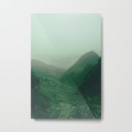 Vintage Landscape Photography. Green Mountains of Ha Giang, Vietnam. Metal Print