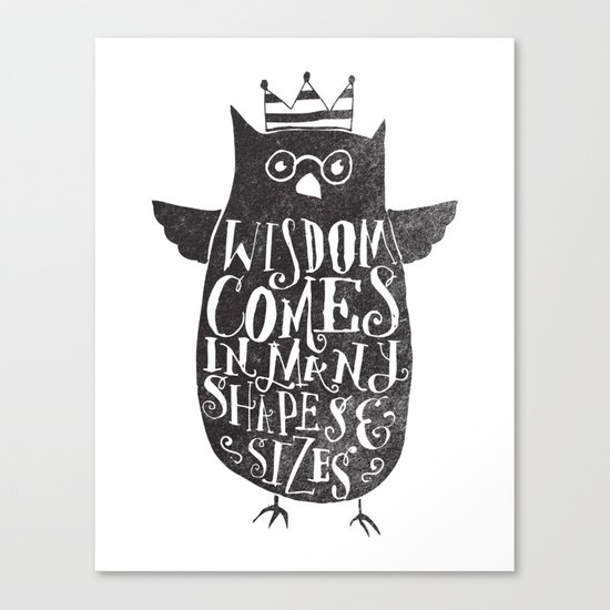 WISDOM COMES IN MANY SHAPES & SIZES Canvas Print