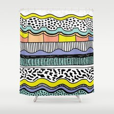 NATIVE WAVES Shower Curtain