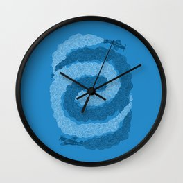Smoke Spiral Wall Clock