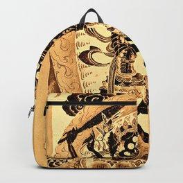 Citipati Tibetan Skeleton Lords Gold Backpack