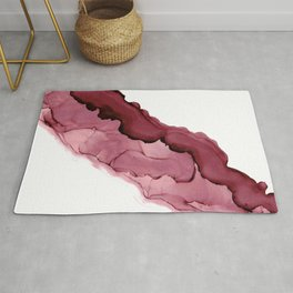 Currant River: Original Abstract Alcohol Ink Rug