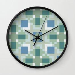 Gentle Shaded Plaid Wall Clock