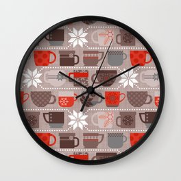 Snow Day Mugs - Chocolate Wall Clock