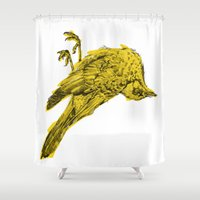silence of the lambs Shower Curtains featuring silence by PAFF