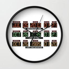 Back to the future Delorean board Wall Clock