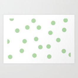 Green Dots Art Print