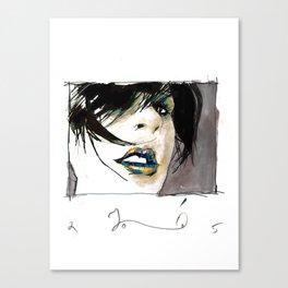 lady opiate Canvas Print