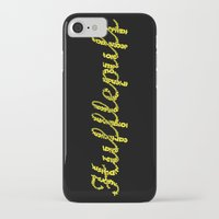 hufflepuff iPhone & iPod Cases featuring One word - Hufflepuff by husavendaczek