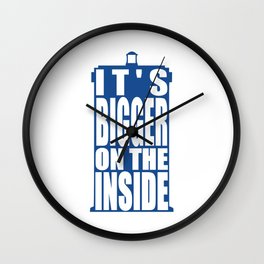 Bigger on the Inside Wall Clock