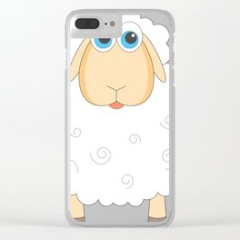 Lovely Cartoon Sheep Clear iPhone Case