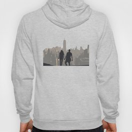 The Couple Overlooking the New York City Skyline and the Empire State Building Hoody