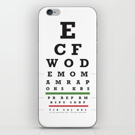 Crossfit chart iPhone Skin