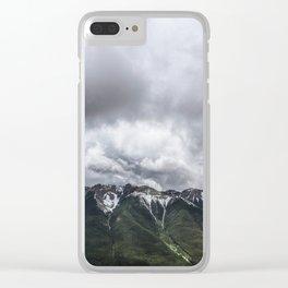 Landscape Banff Gondola Lush Mountains Clear iPhone Case