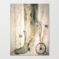 shoe Canvas Prints featuring shoe by woman