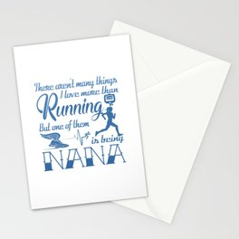 Running Nana Stationery Cards