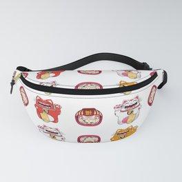 Colorful Maneki - neko pattern design Fanny Pack