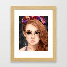 "LDR ""Big Eyes"". Framed Art Print"