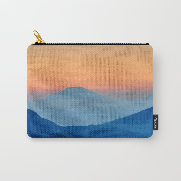 Orange Valley #mountains Carry-All Pouch