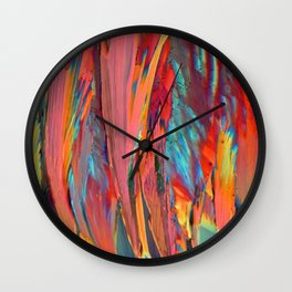 Abstracts in Color No 6, 2019 Wall Clock