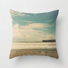 Cayucos Boardwalk Throw Pillow